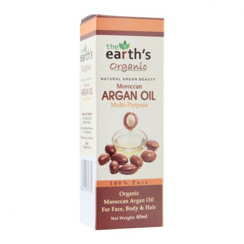 The Earth's Organic Moroccan Multi-Purpose Argan Oil, 40ml