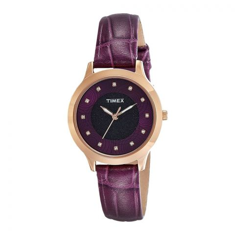 Timex Analog Purple Dial Women's Watch - TW000T616