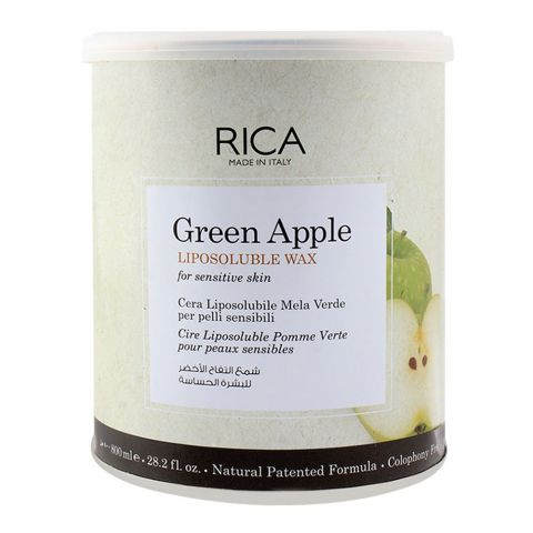 RICA Green Apple Sensitive Skin Lisposoluble Wax 800ml