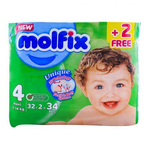 Molfix 4 Maxi 7-14 KG, 32+2 Pack