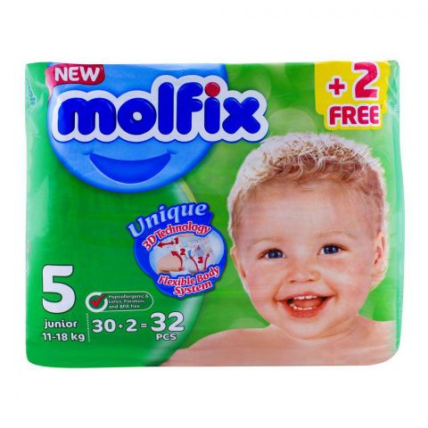 Molfix 5 Junior 11-18 KG, 30+2 Pack