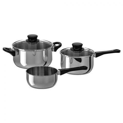 IKEA Annons 5 Piece Cookware Set, Stainless Steel, 90207402