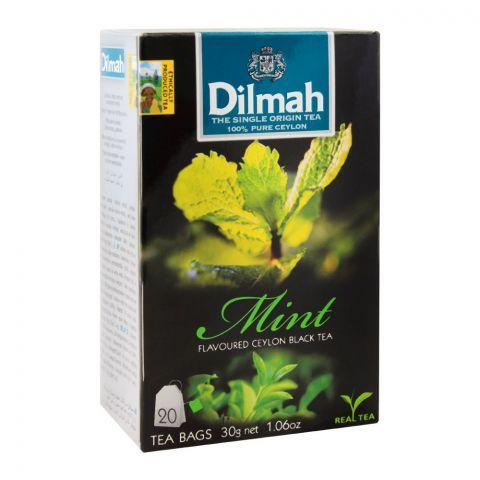 Dilmah Mint Flavoured Ceylon Black Tea 20, Tea Bags