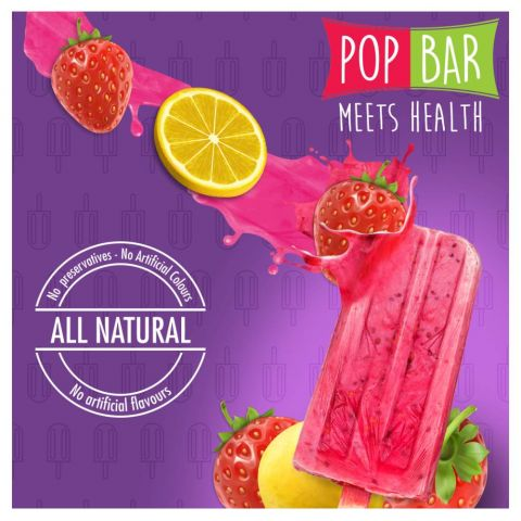 Wholesome Foods Pop Bar, Strawberry Lime, 80g