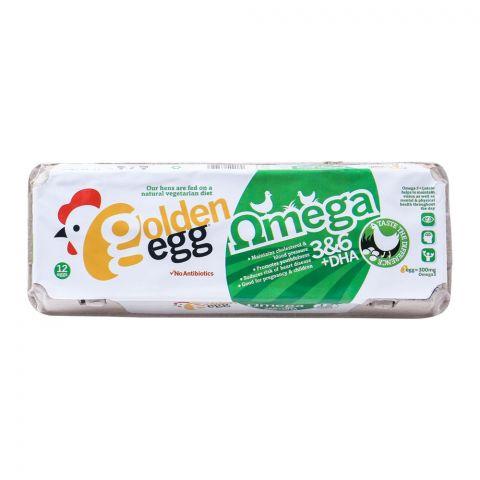 Golden Egg Omega + DHA Eggs, 12-Pack