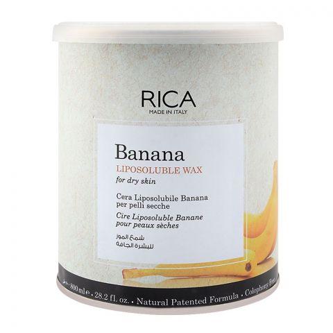 RICA Banana Dry Skin Liposoluble Wax 800ml