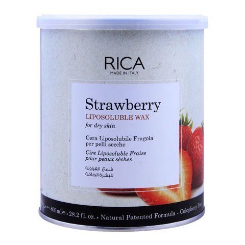 Rica Strawberry Liposoluble Wax, For Dry Skin, 800ml