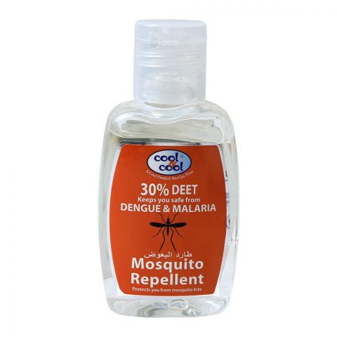 Cool & Cool 30% DEET Mosquito Repellent, Protection Against Dengue & Malaria, 60ml