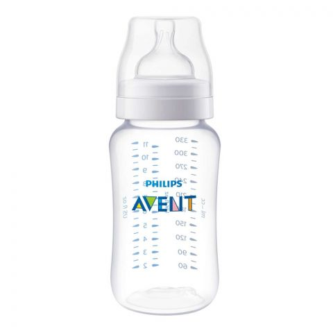 Avent Classic+ Feeding Bottle, 3m+, 330ml/11oz, SCFf456/17