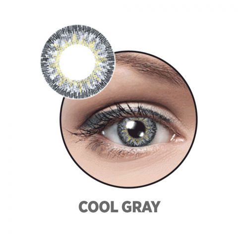 Optiano Soft Color Contact Lenses, Cool Grey