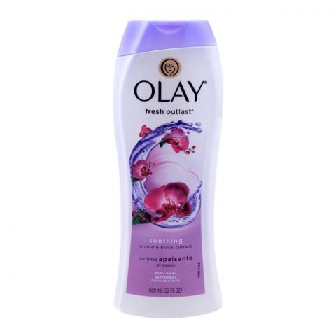 Olay Fresh Outlast Soothing Orchid & Black Currant Body Wash, 650ml