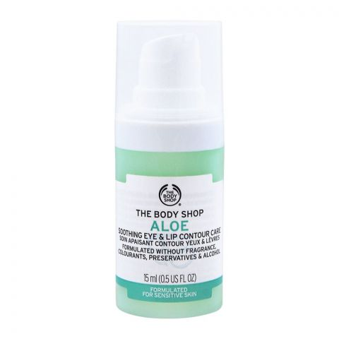 The Body Shop Aloe Soothing Eye & Lip Contour Care, Suitable for Sensitive Skin, 15ml
