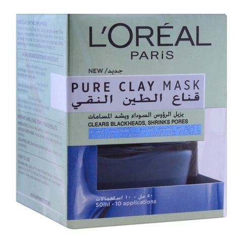 L'Oreal Paris Pure Mask, Clears Blackheads & Shrinks Pores, 50ml