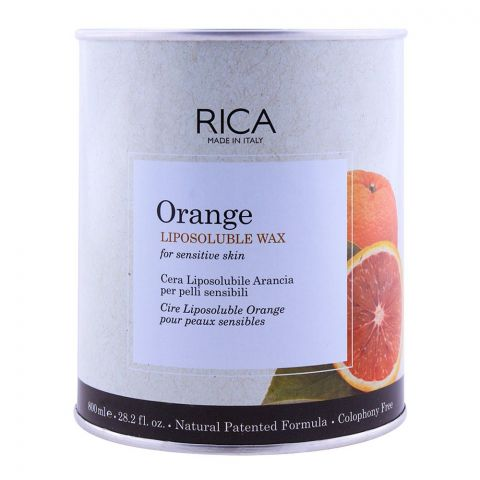 RICA Orange Sensitive Skin Liposoluble Wax 800ml