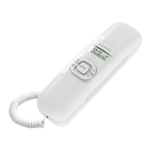 Alcatel White Ultra Compact Corded Landline Phone, T16