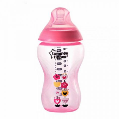 Tommee Tippee 3m+ Decorated Feeding Bottle (Pink) 340ml/12oz - 422698/38