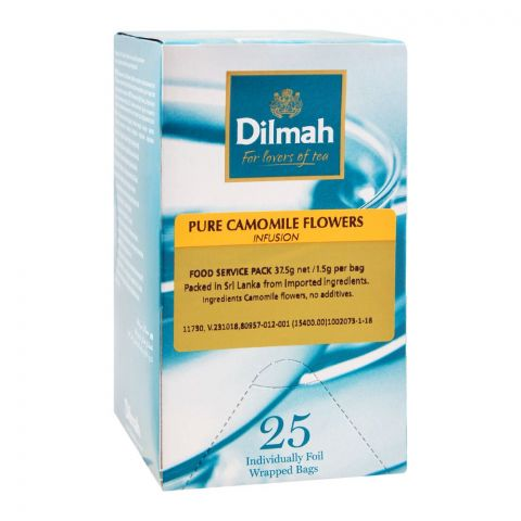 Dilmah Pure Camomile Flowers Infusion, 25 Foil Wrapped Bags
