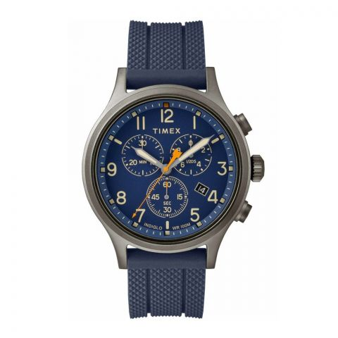 Timex Men's Allied Chronograph Analog Blue Dial Watch - TW2R60300