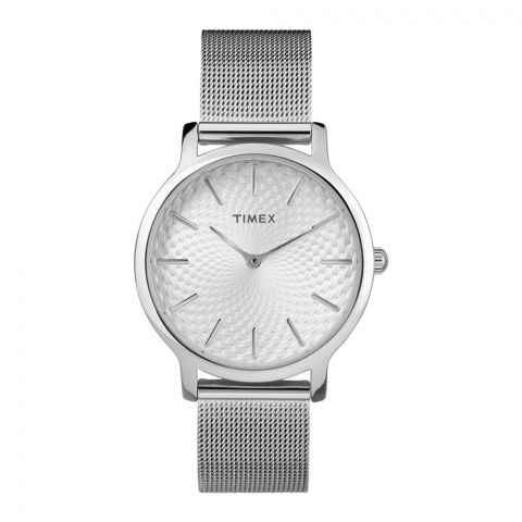 Timex Women's Metropolitan 34mm Watch, Silver - TW2R36200