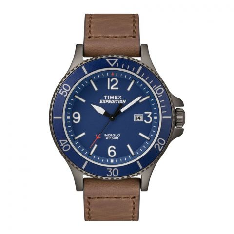 Timex Men's Expedition Ranger Brown Leather Strap Watch - TW4B10700