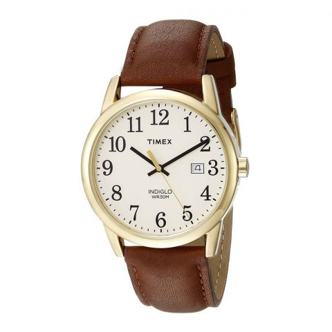 Timex Men's Easy Reader Watch, Brown/Gold - TW2P75800