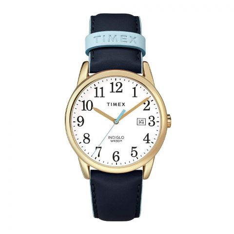Timex Women's Easy Reader 38mm Blue Leather Strap Watch - TW2R62600