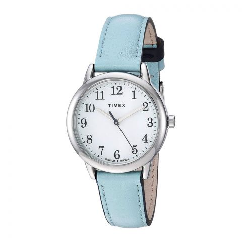 Timex Women's Easy Reader 30mm Blue Leather Strap Watch - TW2R62900