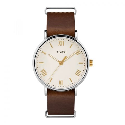 Timex Men's Southview 41mm Brown Leather Strap Watch - TW2R80400