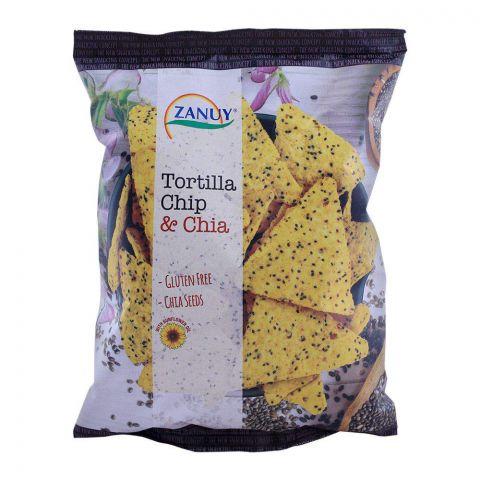 Zanuy Tortilla Chips & Chia, Gluten Free, 130g