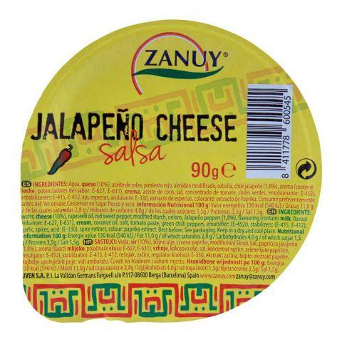 Zanuy Salsa Dip, Jalapeno Cheese 90g