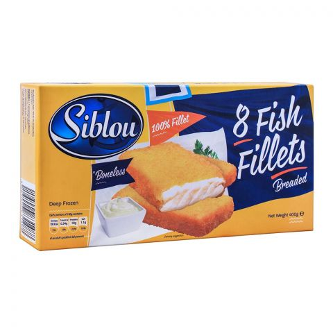 Siblou Breaded Fish Fillets, 8 Pieces, 400g
