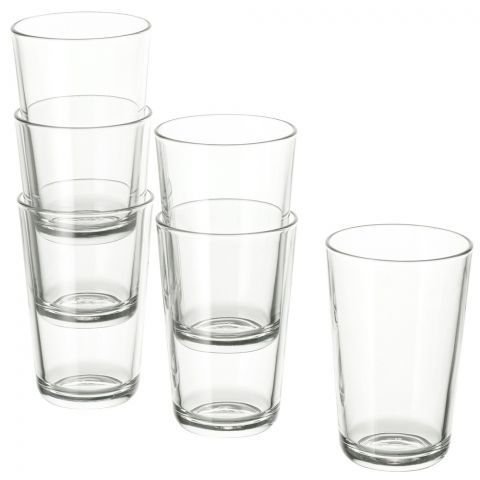 IKEA 365+ Clear Glass, 6 Piece Set, 70278358