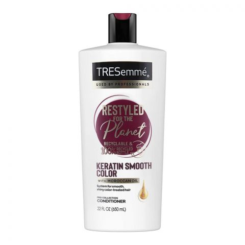 Tresseme Pro Collection Keratin Smooth Color Conditioner, With Moroccan Oil, 650ml
