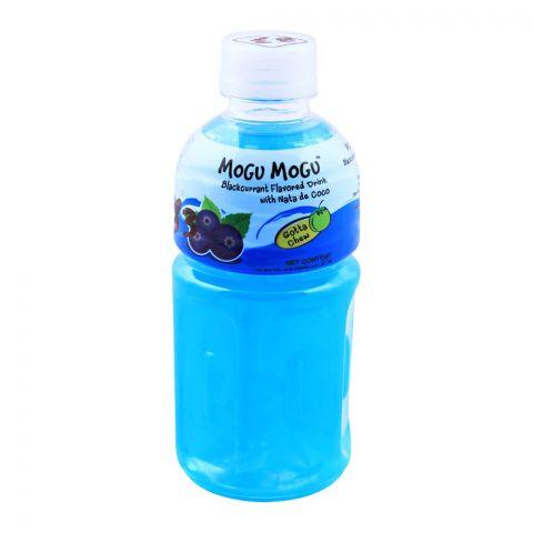 Mogu Mogu Blackcurrant Flavored Drink, With Nata De Coco, 320ml
