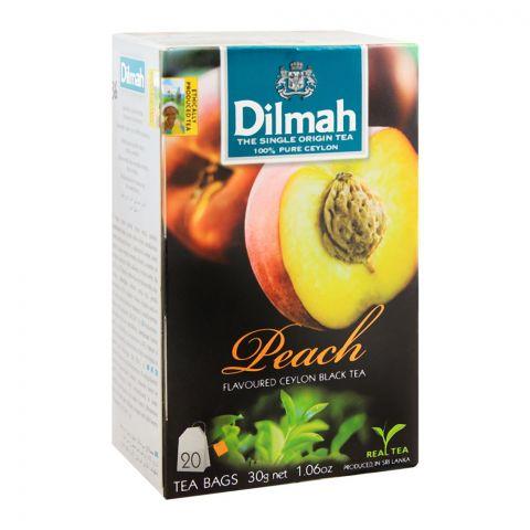 Dilmah Peach Flavoured Ceylon Black Tea, 20 Tea Bags