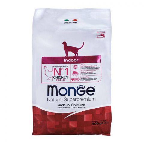 Monge Indoor Chicken & Rice Cat Food 400g