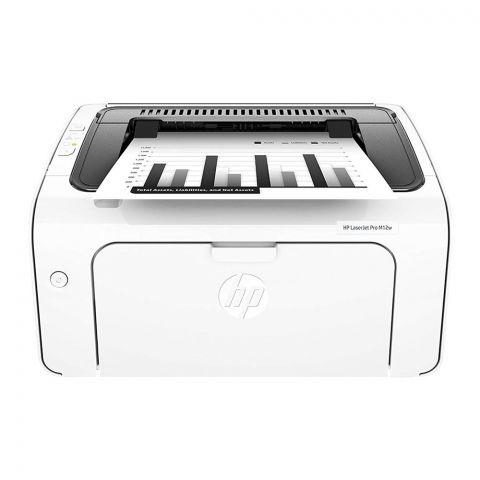 HP LaserJet Pro Wireless Printer, White, M12W