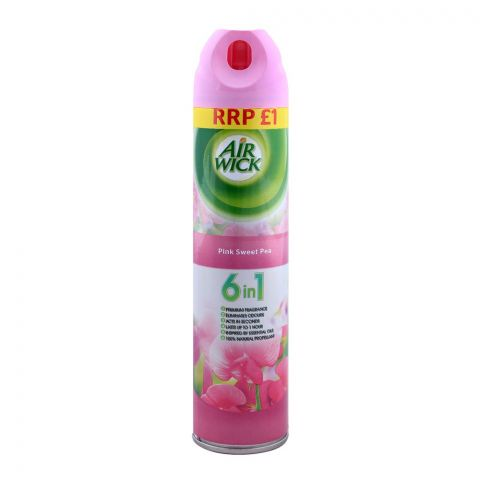 Airwick 6-in-1 Pink Sweet Pea Freshener 240ml