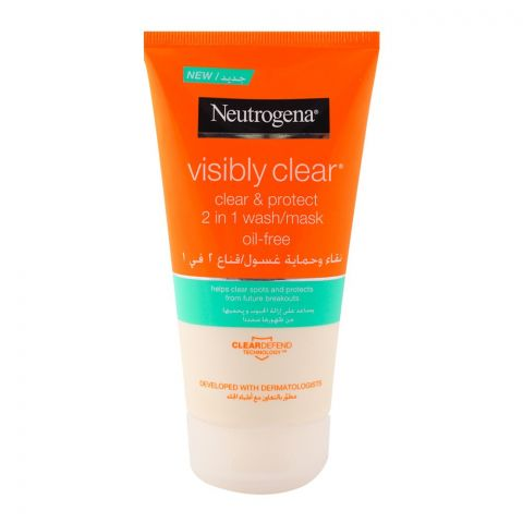 Neutrogena Visibly Clear Clear & Protect 2-in-1 Wash/Mask 150ml
