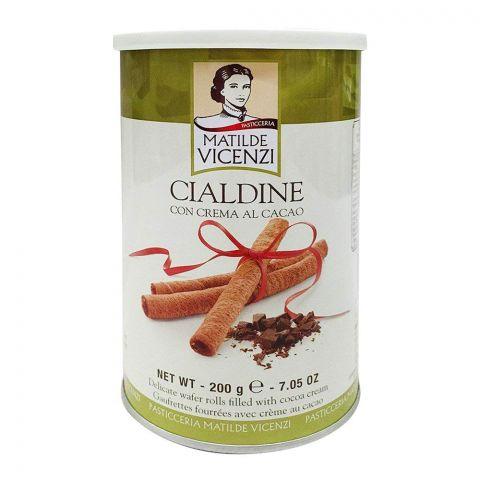 Matilde Vicenzi Cialdine Cacao Rolls Tin 200gm