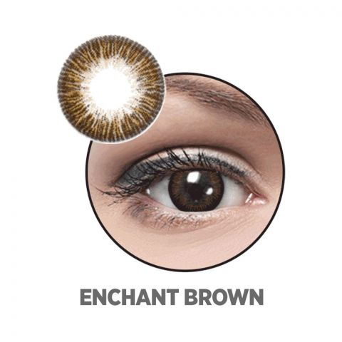 Optiano Soft Color Contact Lenses, Enchant Brown