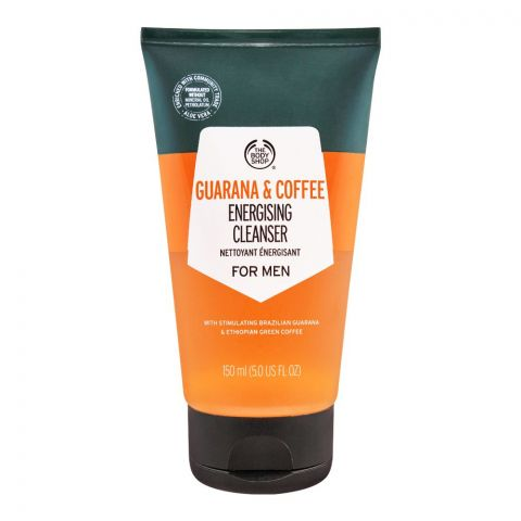 The Body Shop Men Guarana & Coffee Energising Cleanser, 150ml