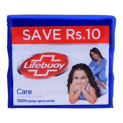 Lifebuoy Care With Activ Silver Soap, Value Pack 3x146g