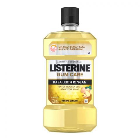 Listerine Gum Care Mouth Wash, Herbal Ginger, 500ml