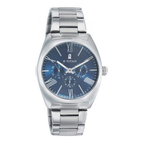 Titan Round Analog Blue Dial Men's Watch, 9476SM03