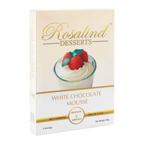Rosalind Desserts White Chocolate Mousse, 200g