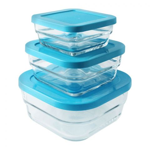 Pasabahce Gourment Food Containers, 3 Pieces, 97826