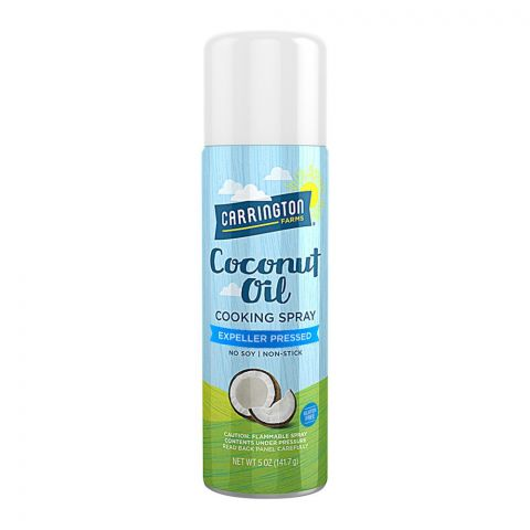Carrington Farms Coconut Oil Cooking Spray, Expeller Pressed, Gluten Free, 141.7g