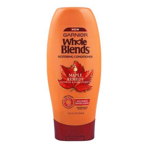 Garnier Whole Blends Maple Remedy Restoring Conditioner, Paraben Free, 370ml