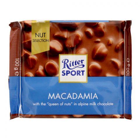 Ritter Sport Macadamia Chocolate, 100g